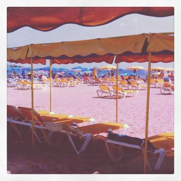 Spanien. Salou. Der Strand.