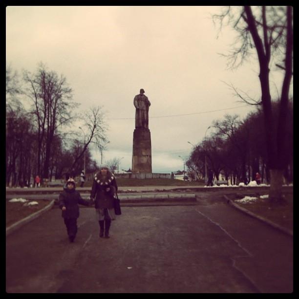 Ivan Susanin's monument. Kostroma.