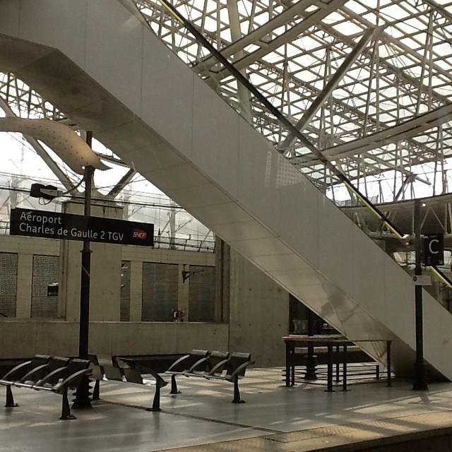 Сижу жду в RER