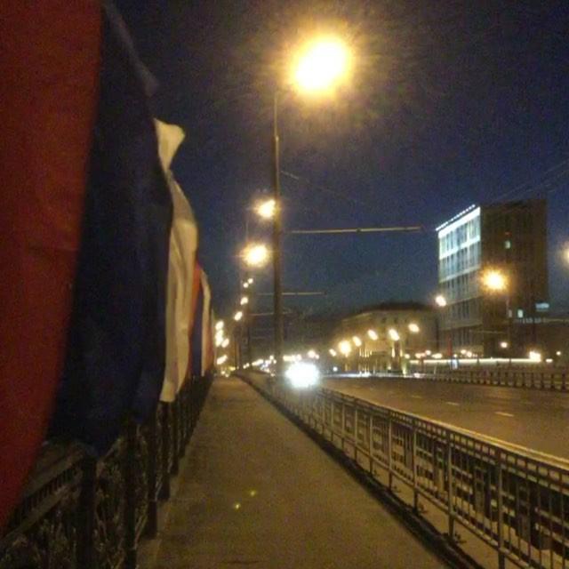 15 секунд ночной послепраздничной Москвы