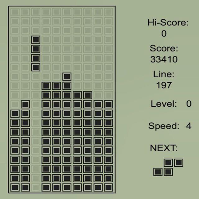 Tetris - игра, ради которой я работал летом, когда мне было 12 лет! :)